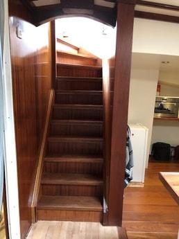 Stairs to wheelhouse