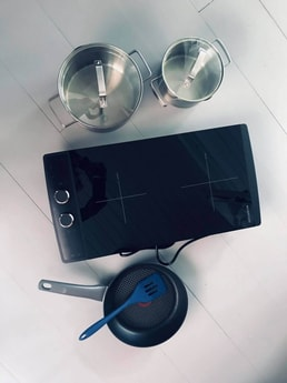 Two burner induction stove.