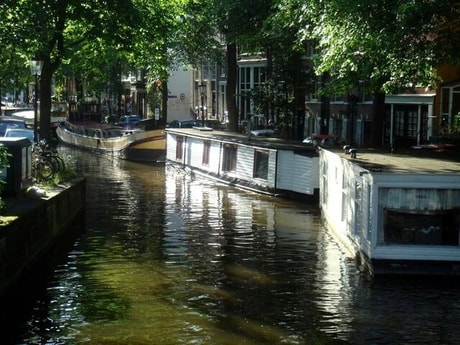 Romantic Waterway with the Spring light