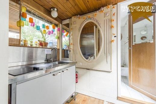Kitchen with its Belle Epoque mirror