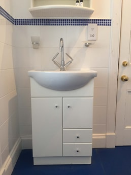 Another view of the ensuite wet room in an upstairs bedroom