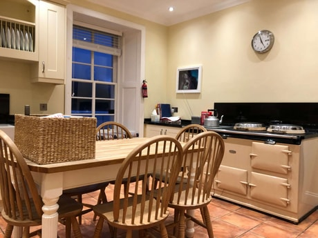Kitchen showing AGA