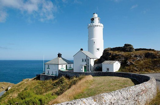 The lighthouse and cottages