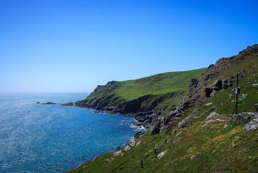 Stunning cliff sides and sea views