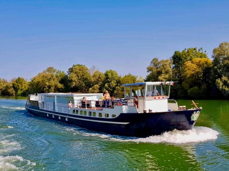 The Grand Victoria cruising on the River Saône