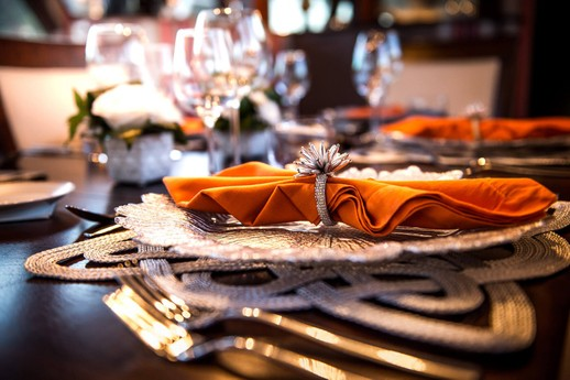 Four course gourmet dinners on board the luxury yacht Grand Victoria