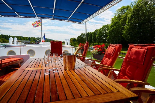 Lunch or a drink perhaps on the sundeck.