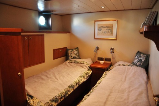 One of the two identical guest cabins.