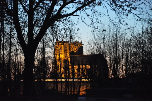 The old abbey church of Corbie.