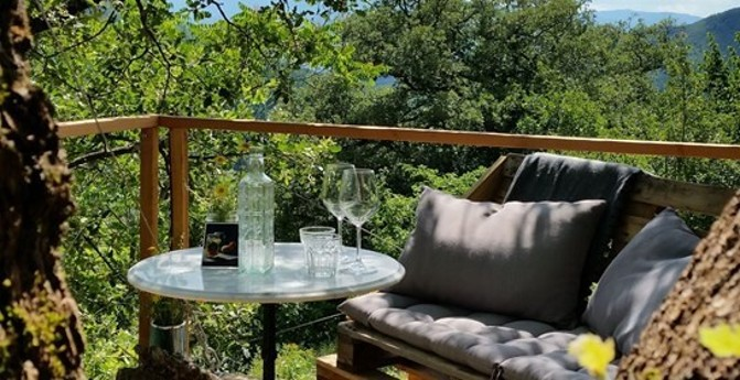 Lovely terrace for afternoon wine