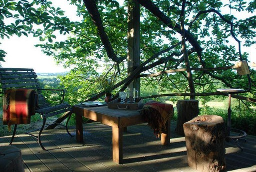 One of the treehouse's terraces