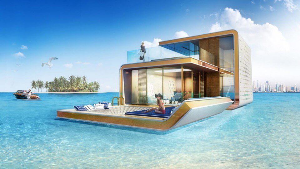 Houseboat Dubai Floating Seahorse during day time