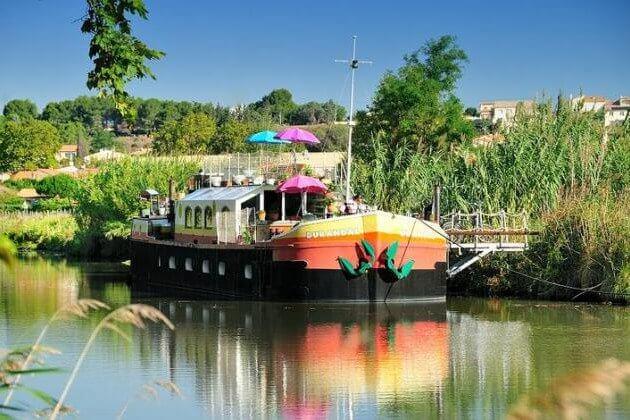 Houseboat near Béziers