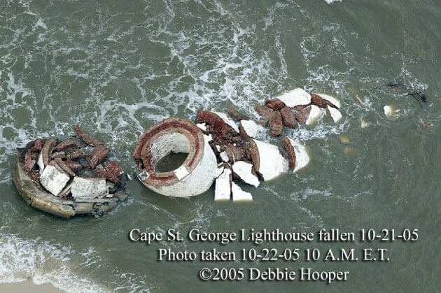 St George Lighthouse Collapsed