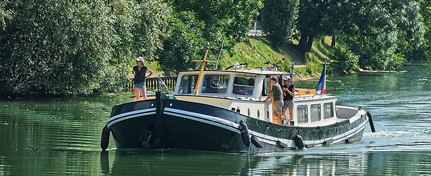 River barge cruiise france