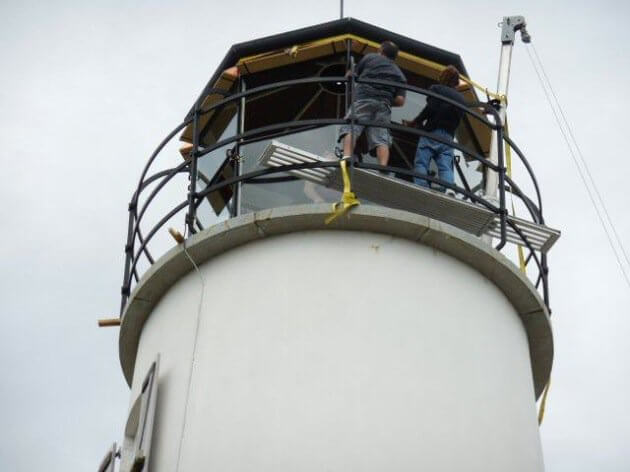 Preserving a lighthouse means constant attention.