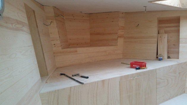 Houseboat Amsterdam renovation timber hull