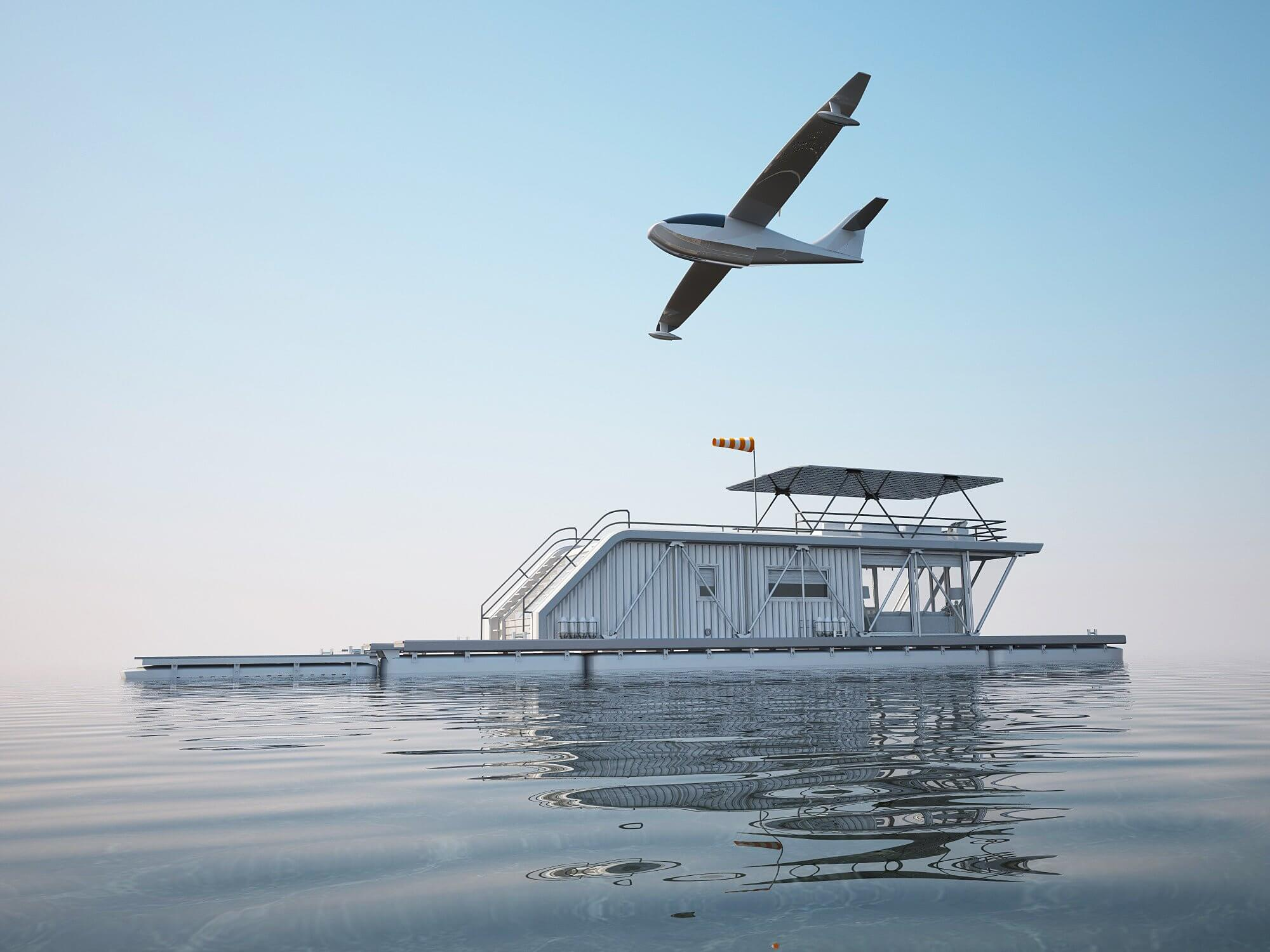 The sky is the limit with this houseboat aquaplane combination