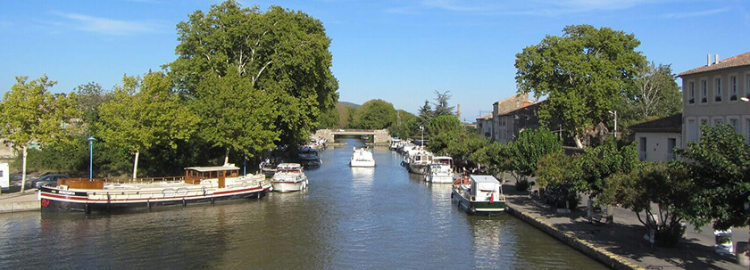 A river cruise from Béziers to Carcassonne takes you along many wonderful villages along Canal-du-Midi