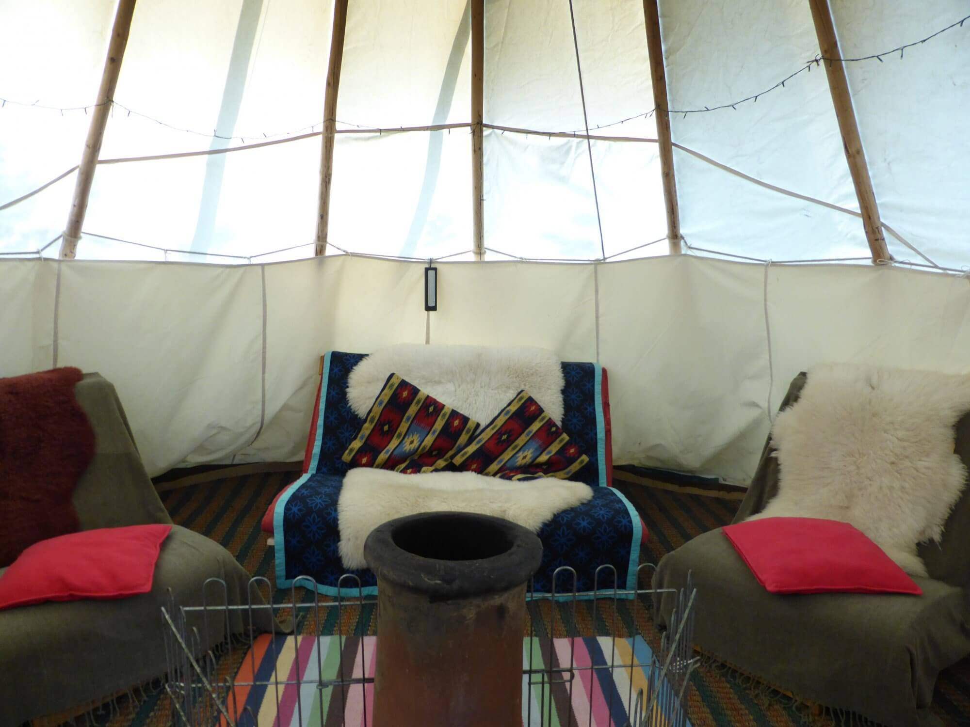 The dream of every kid: live in a wigwam for a few days!