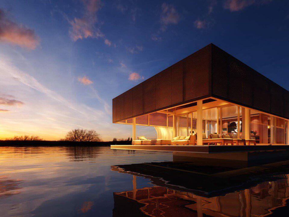 Waterlovt houseboat artists impression