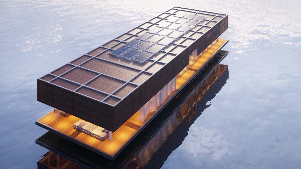 Houseboat operating off grid