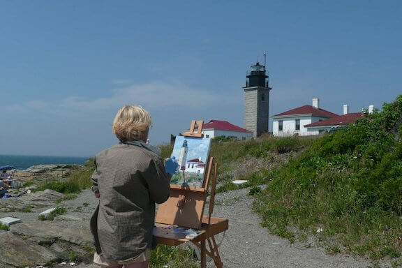 Beavertail Lighthouse inspires painters