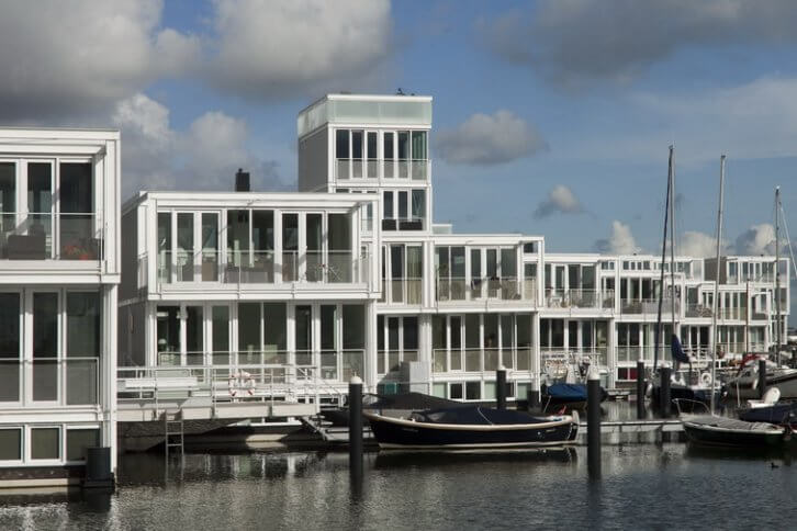 Houseboats in Amsterdam IJburg