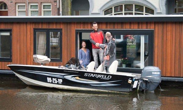 Houseboat amsterdam fishing