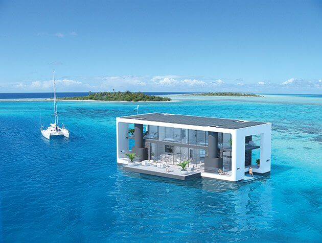 The storm proof houseboat on a perfect spot