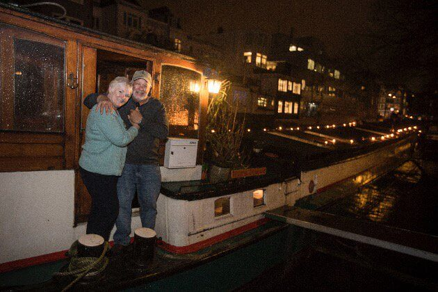 Bobbi and Nick love their houseboat