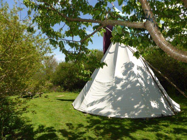 Camping Tipi oder Wigwam